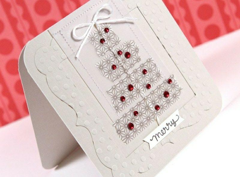 Weihnachtsgrüβe tolle Karte basteln mit Klebeband