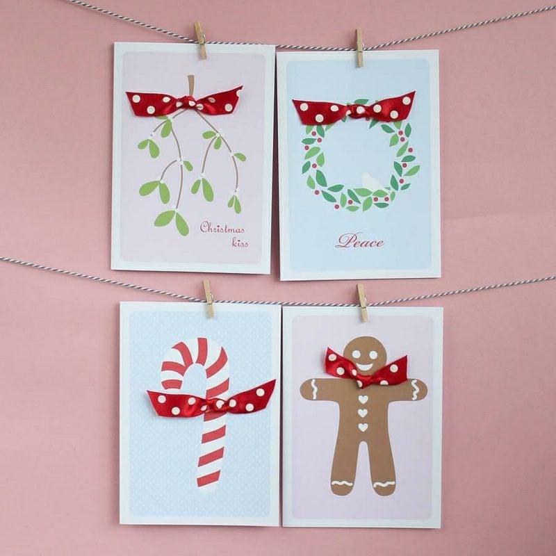 Weihnachtsgrüβe und Bastelideen für Karten