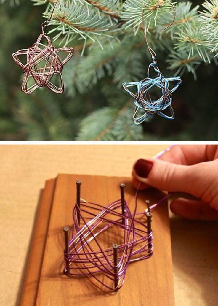 Weihnachtssterne aus Draht basteln - Anleitung