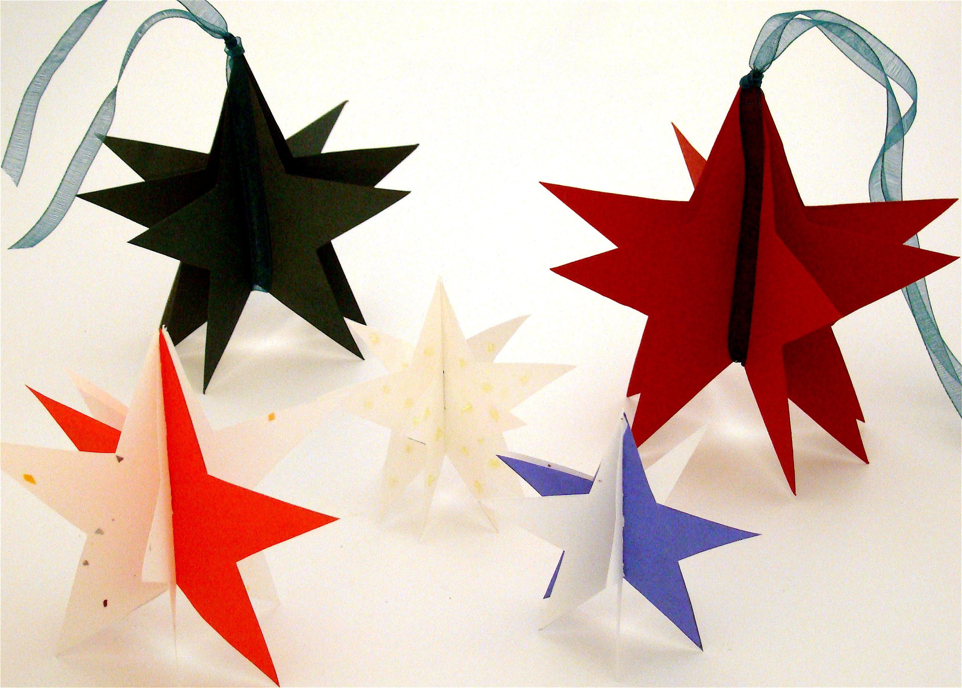 3D Weihnachtssterne basteln