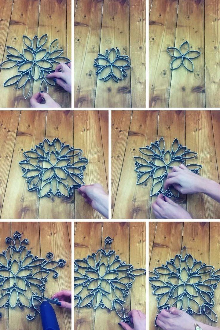 Klopapierrollen werden in Weihnachtssterne verwandeln