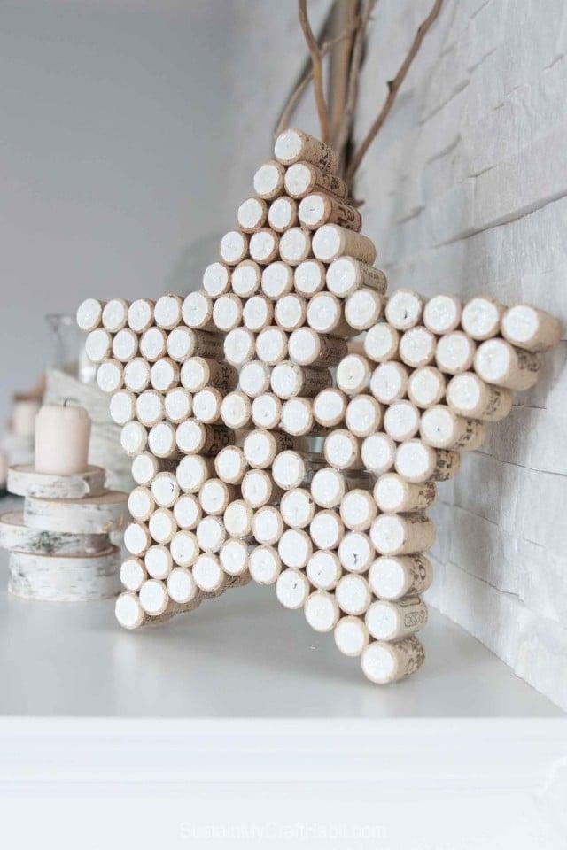 Weihnachtssterne aus Korken