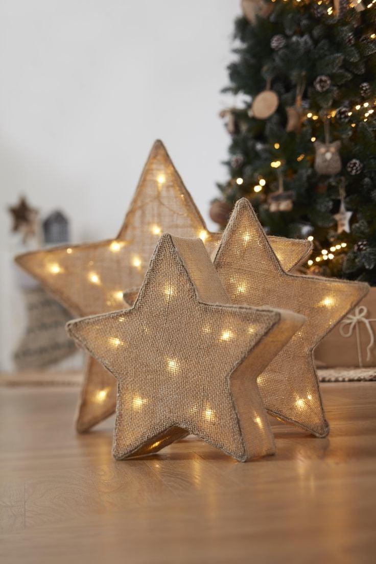 Weihnachtssterne mit Licht