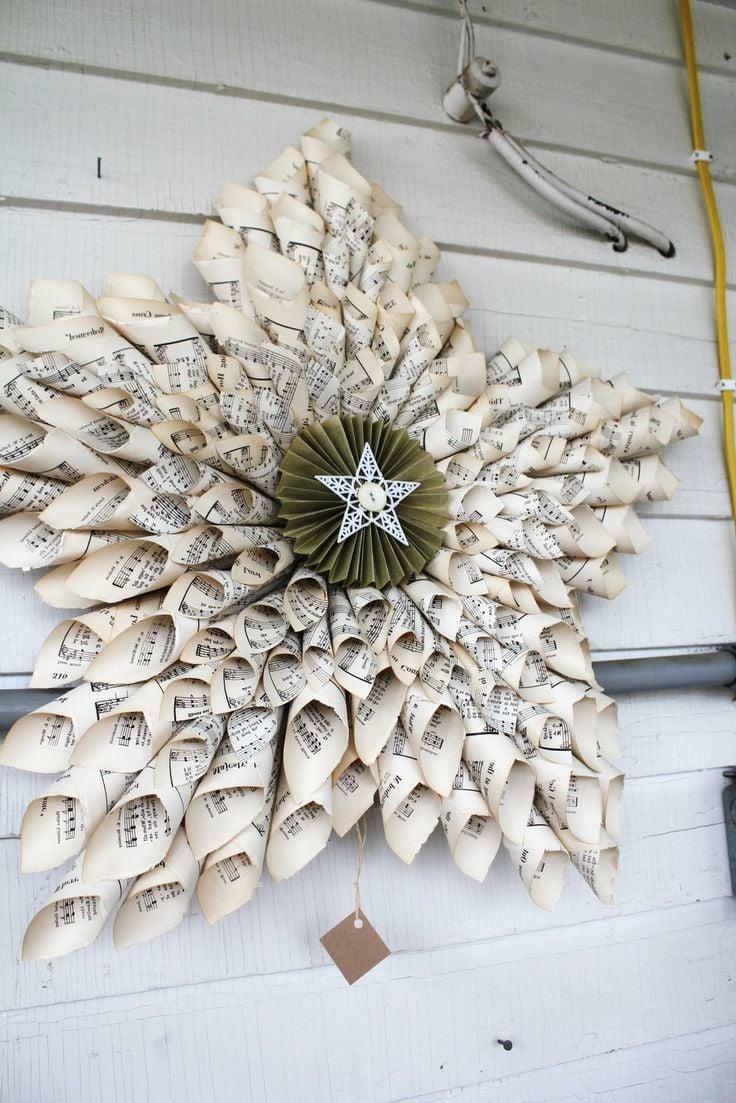 Papiersterne zu Weihnachten müssen im Trockenen sein