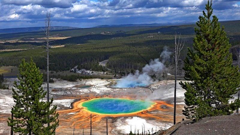die schönsten Orte der Welt Yellowstone Nationalpark Aussicht