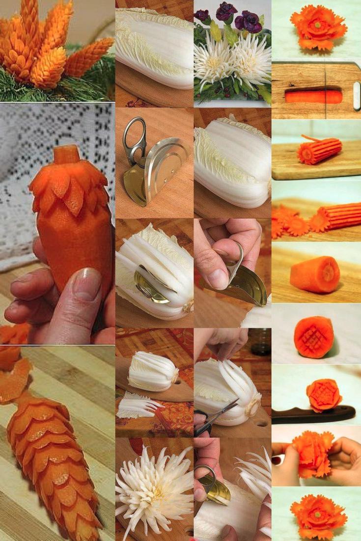 Obst und gem se schnitzen kreative ideen und anleitungen f r jeder gesunde ern hrung - Kaseplatte dekorieren anleitung ...