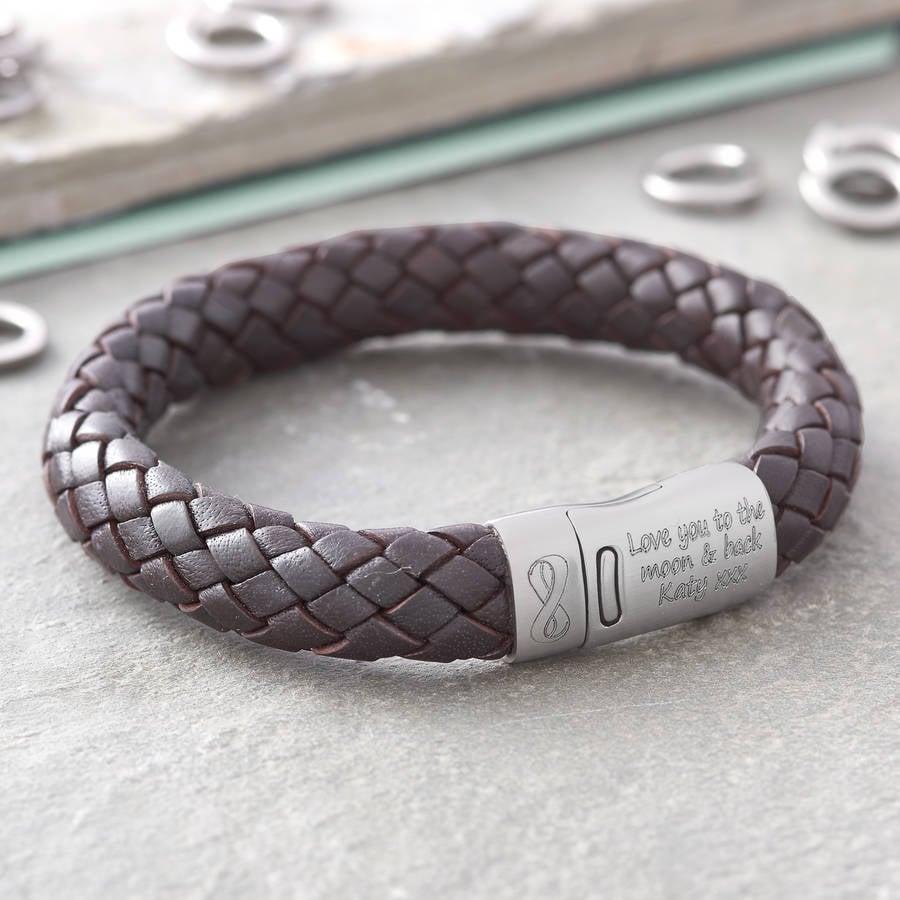 Herrenarmband als Liebesgeschenk mit Gravur