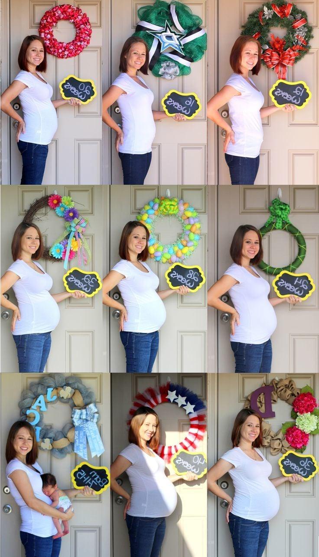 Babybauchfotos von dem 1en Tag bis zum Ende der Schwangerschaft