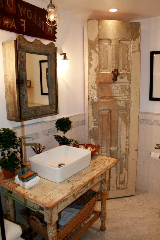 Vintage Atmosphäre im Bad mit den richtigen Details schaffen