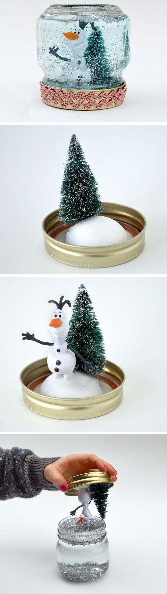 Schneekugeln als Bastelideen für Weihnachten
