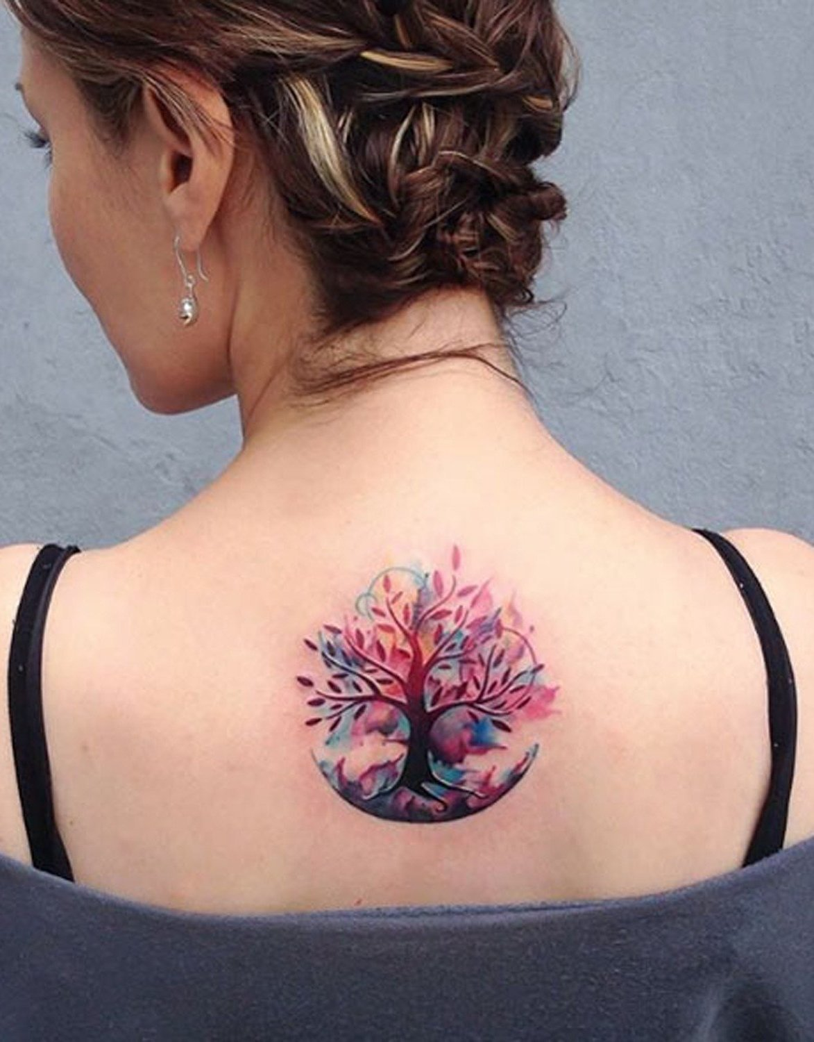 Tattoo Ideen - Frauen Wasserfarbentattoo