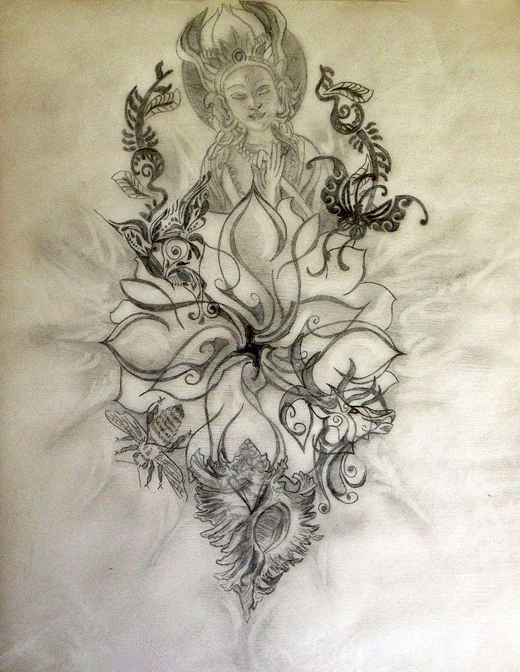 Eine Frauen Tattoo Skizze