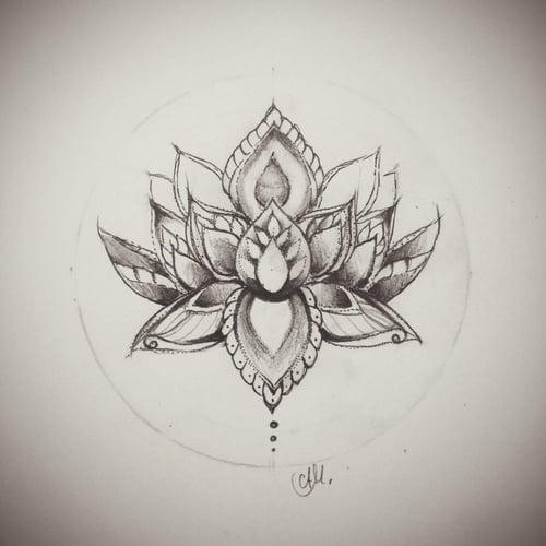 Eine Tattoo Skizze