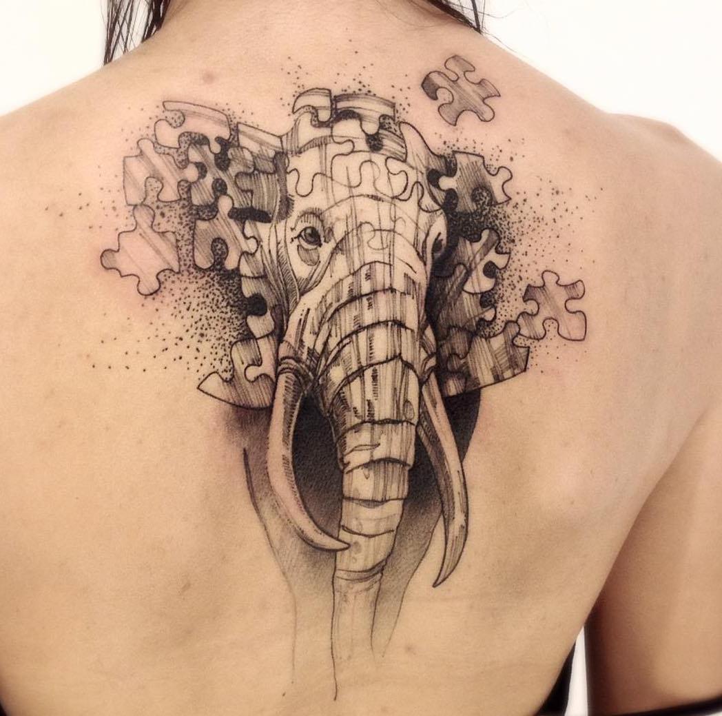 Elefantenpuzzle