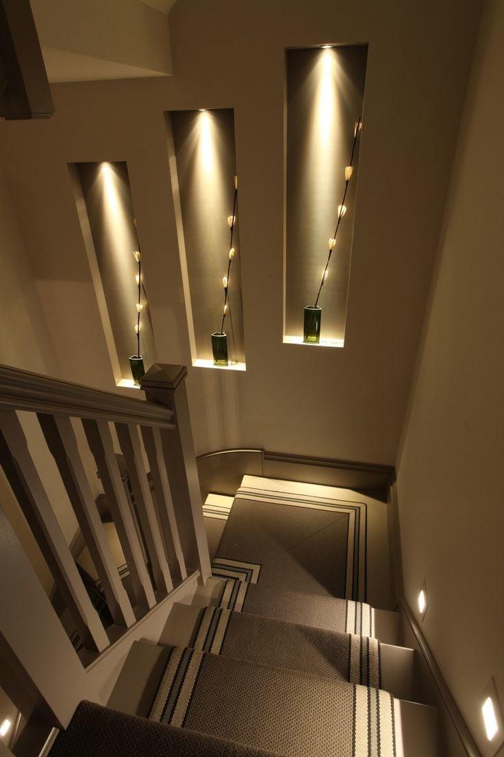 Coole Treppenbeleuchtung - schlicht und sehr schick