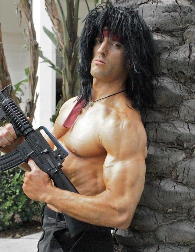 Männerfrisuren lang Halloween Rocky