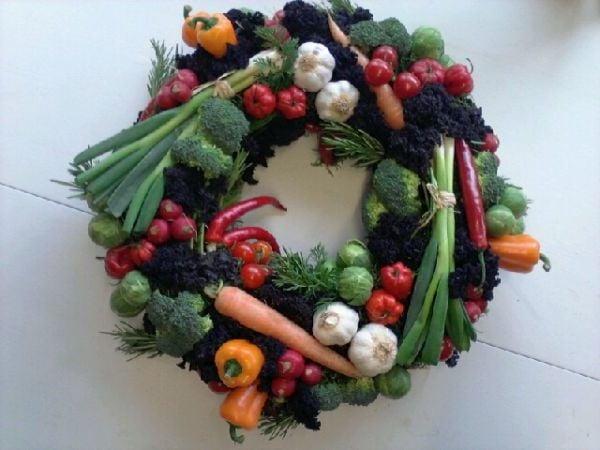Attraktiver Gemüsekranz