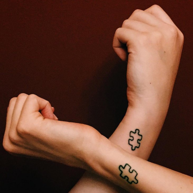 Geschwister Tattoo Puzzle