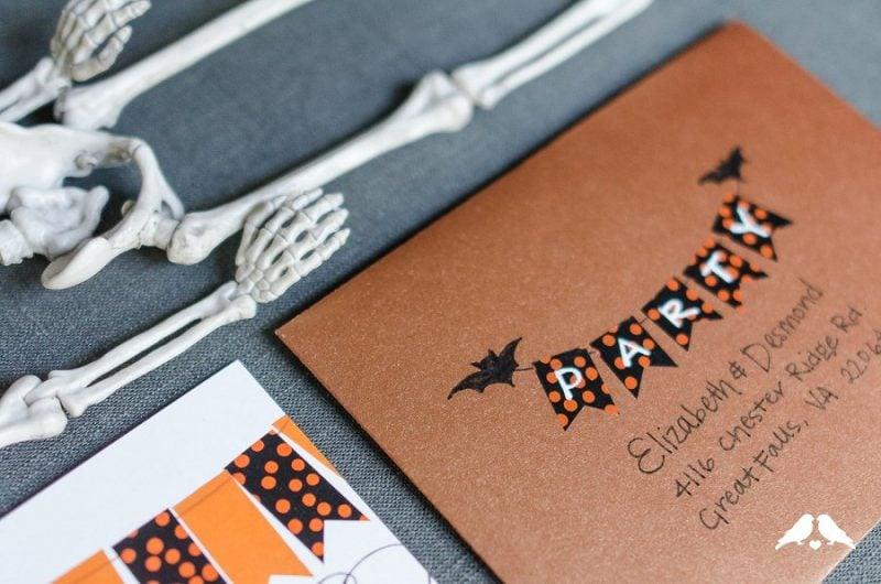 Halloween Einladung basteln