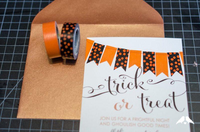 Halloween Einladung mit Tape