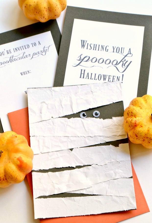 Halloween Einladung DIY Anleitung