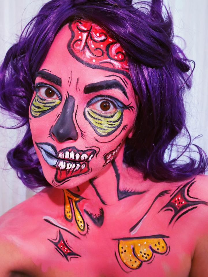 Halloween Schminkanleitung DIY Make up