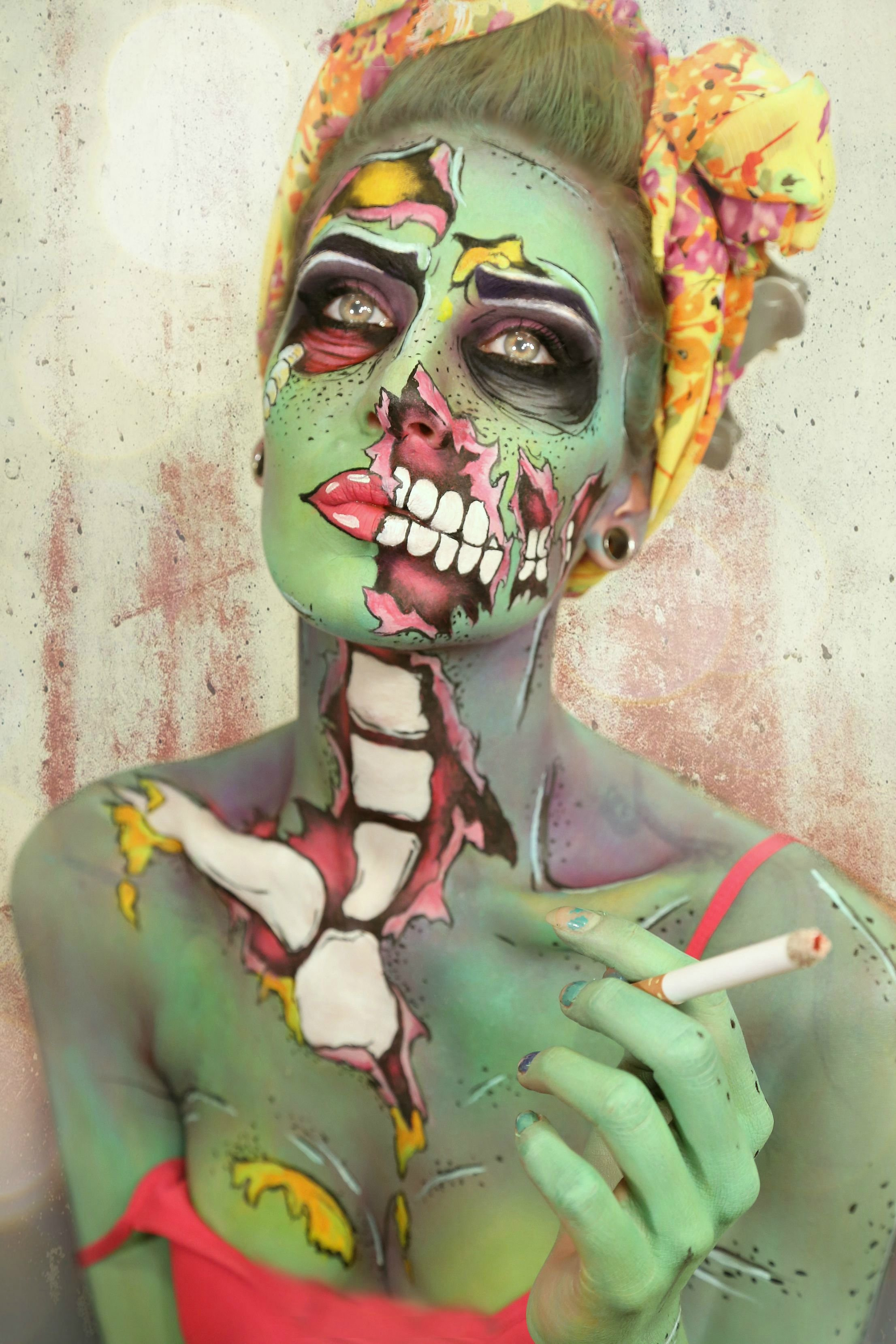 Pop Art Kunstwerk für Ihr Halloween Make Up