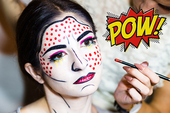 Halloween Make Up - Pop Art Schminken Anleitung