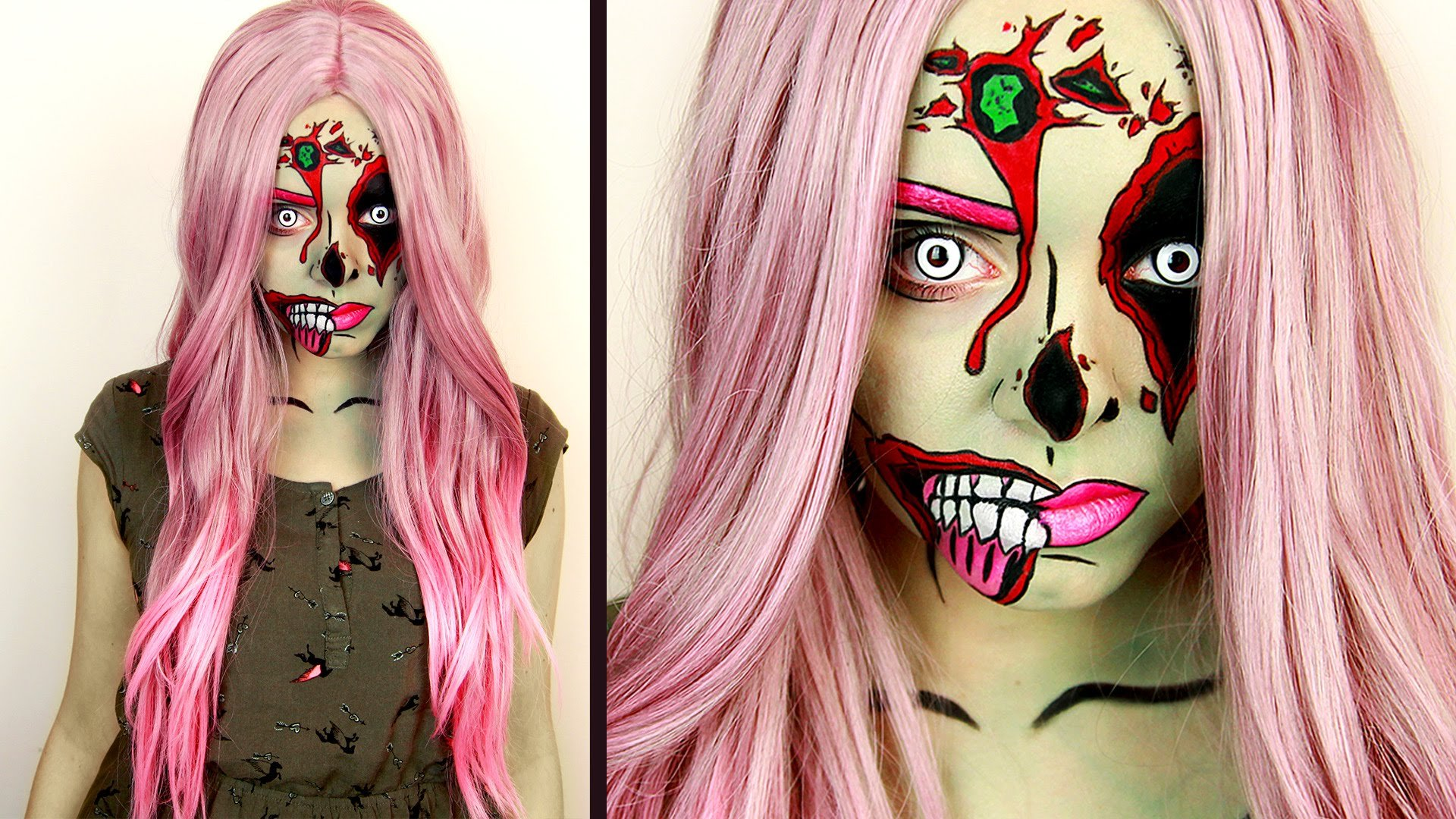 Halloween Schminken Pop Art Make up