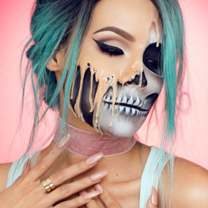 Der Klassiker unter Halloween Schminken: Totenkopf