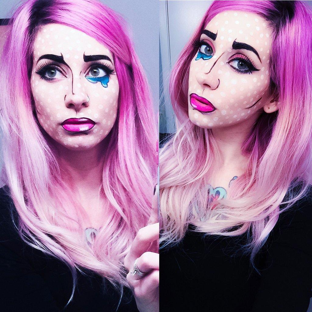 Halloween Puppe Make up