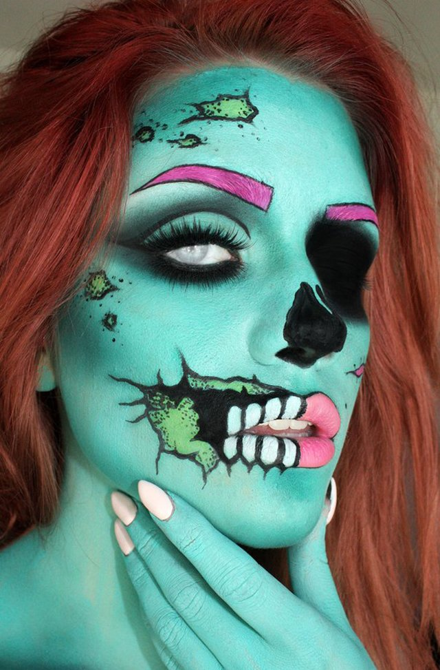 Zombie Make up Halloween Schminken