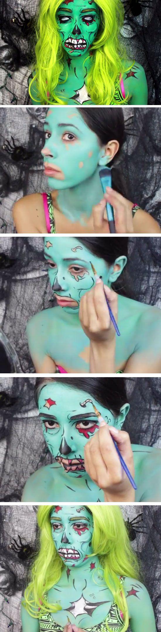 DIY Anleitung für Zombie Makeup selber machen
