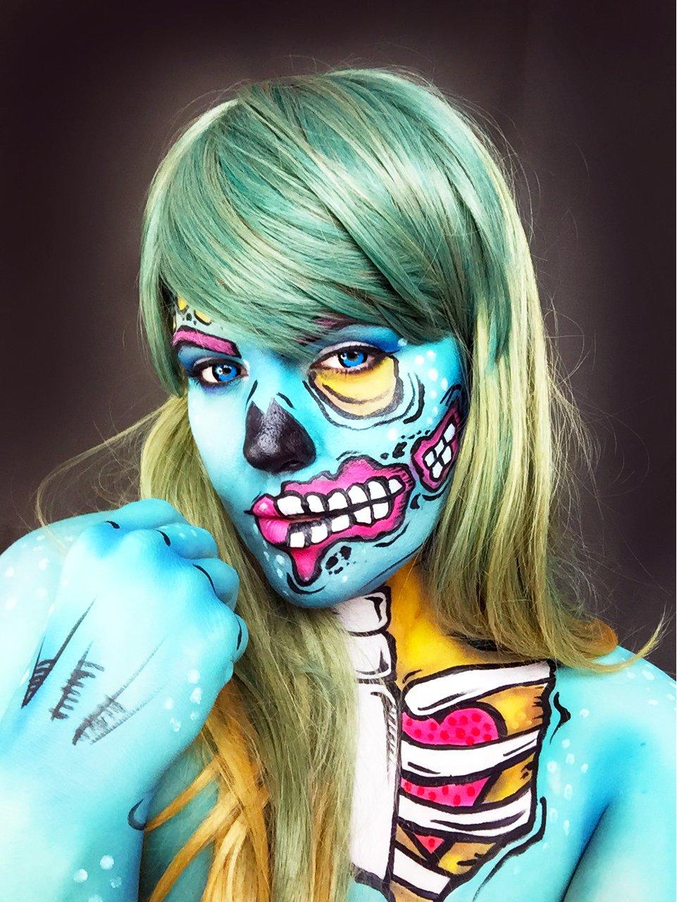 Halloween Zombie Make up