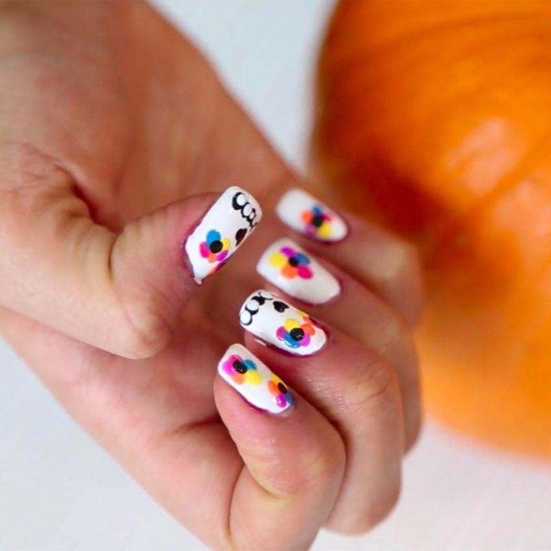 Halloween Nägel Nail Art zum Selbermachen