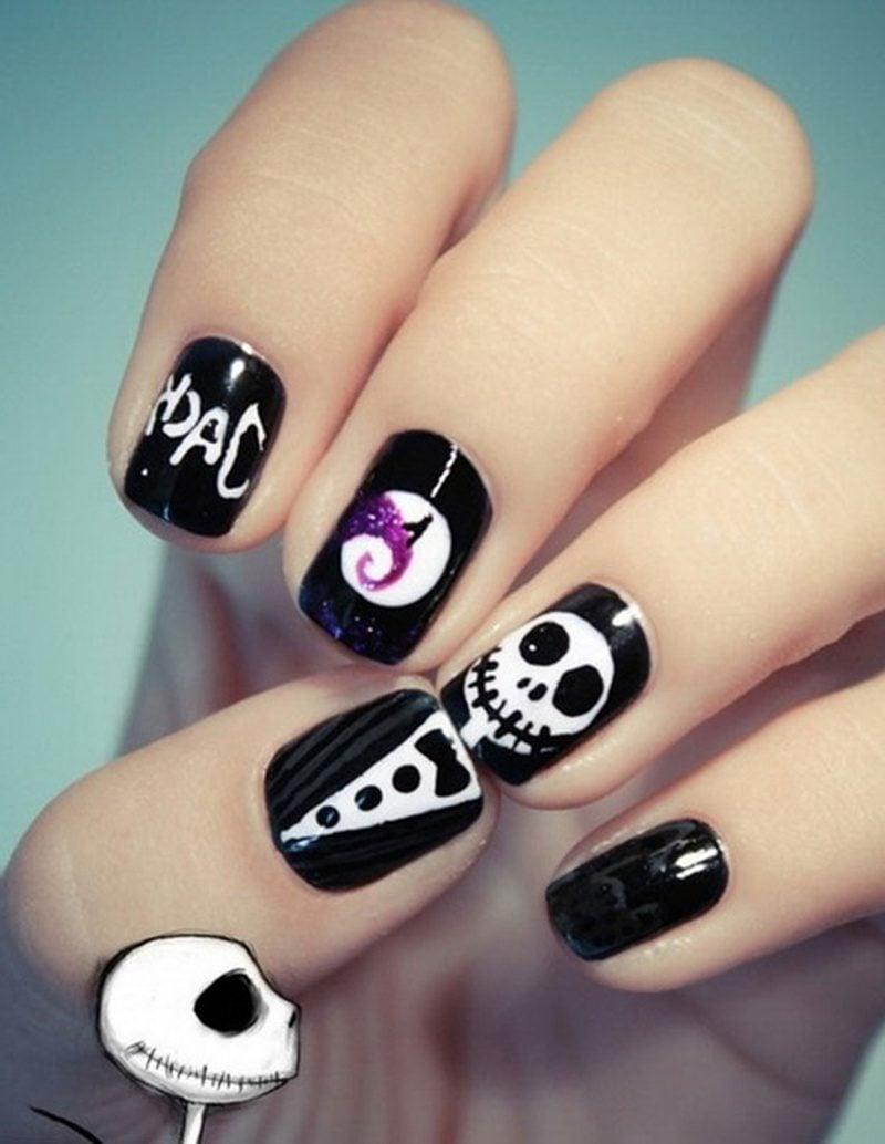 Halloween Nägel Nail Art