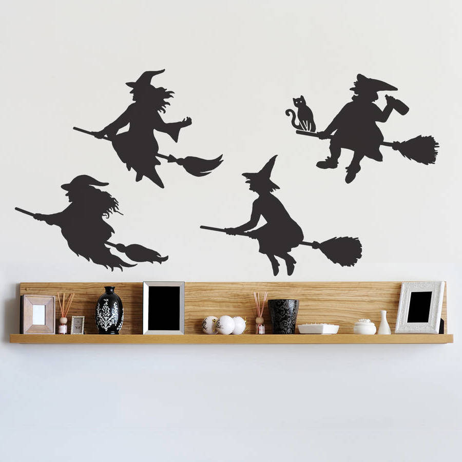 Wand-Sticker als Halloweendeko