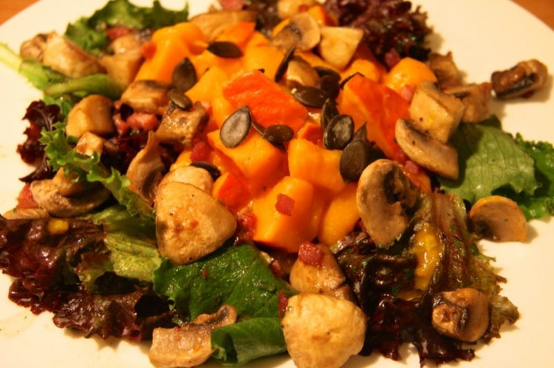 Salat Kalorien herbstlicher Kürbissalat