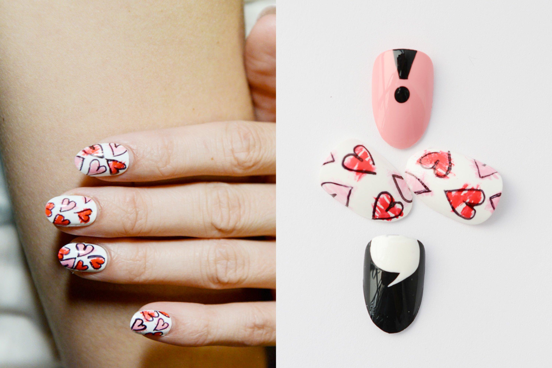 Nägel lackieren zum Valentinstag