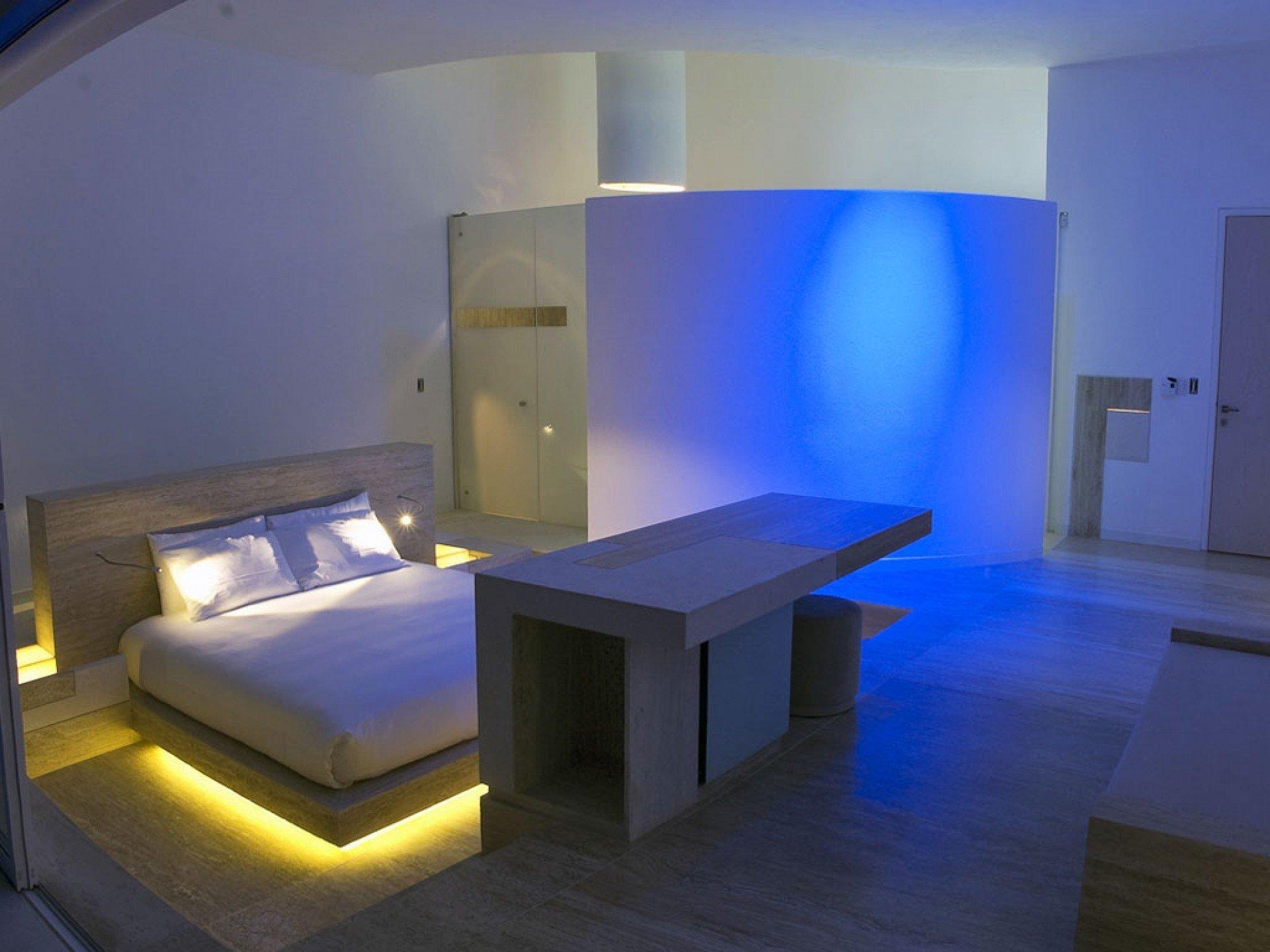 Indirekte Beleuchtung im Schlafzimmer - Romantik pur