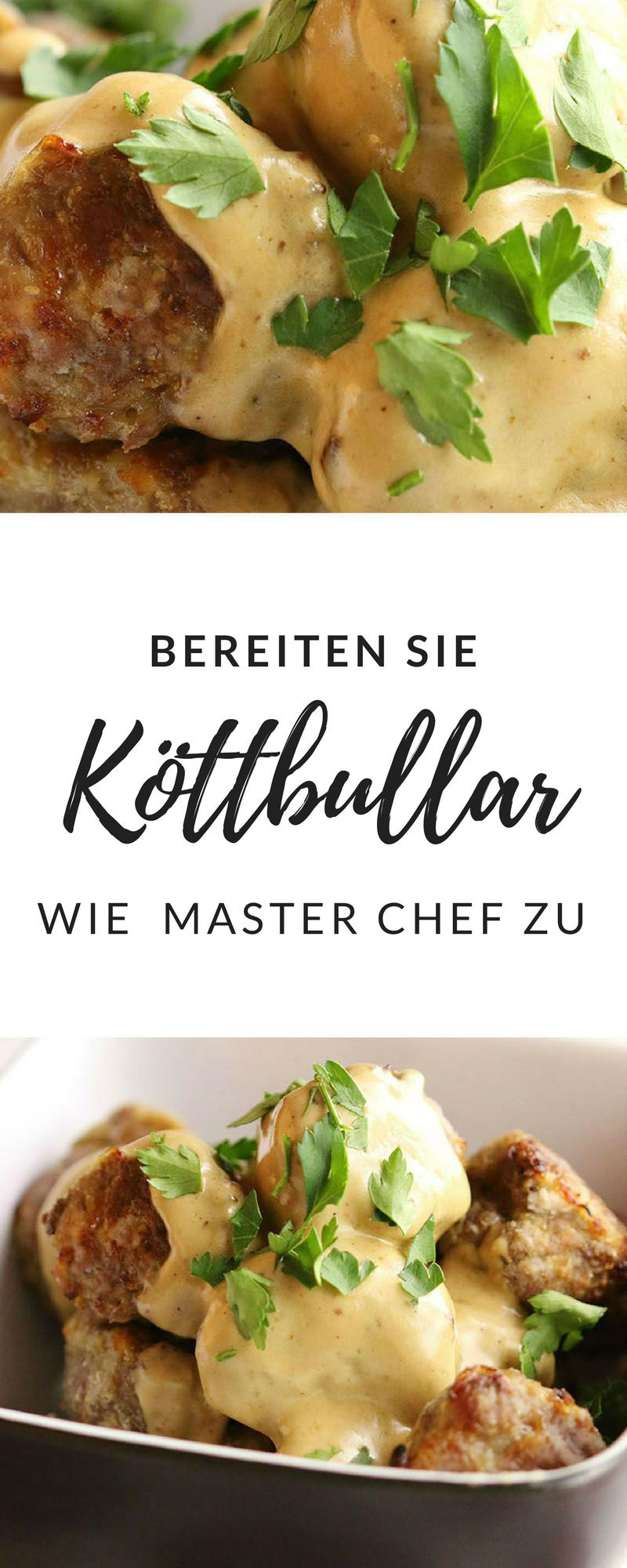 Das Rezept für Köttbullar von Master Chef