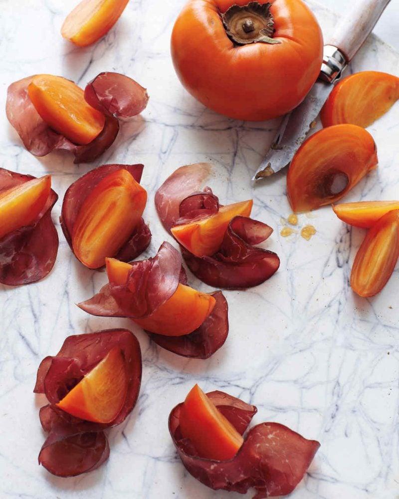 Kakis Rezept mit Bacon