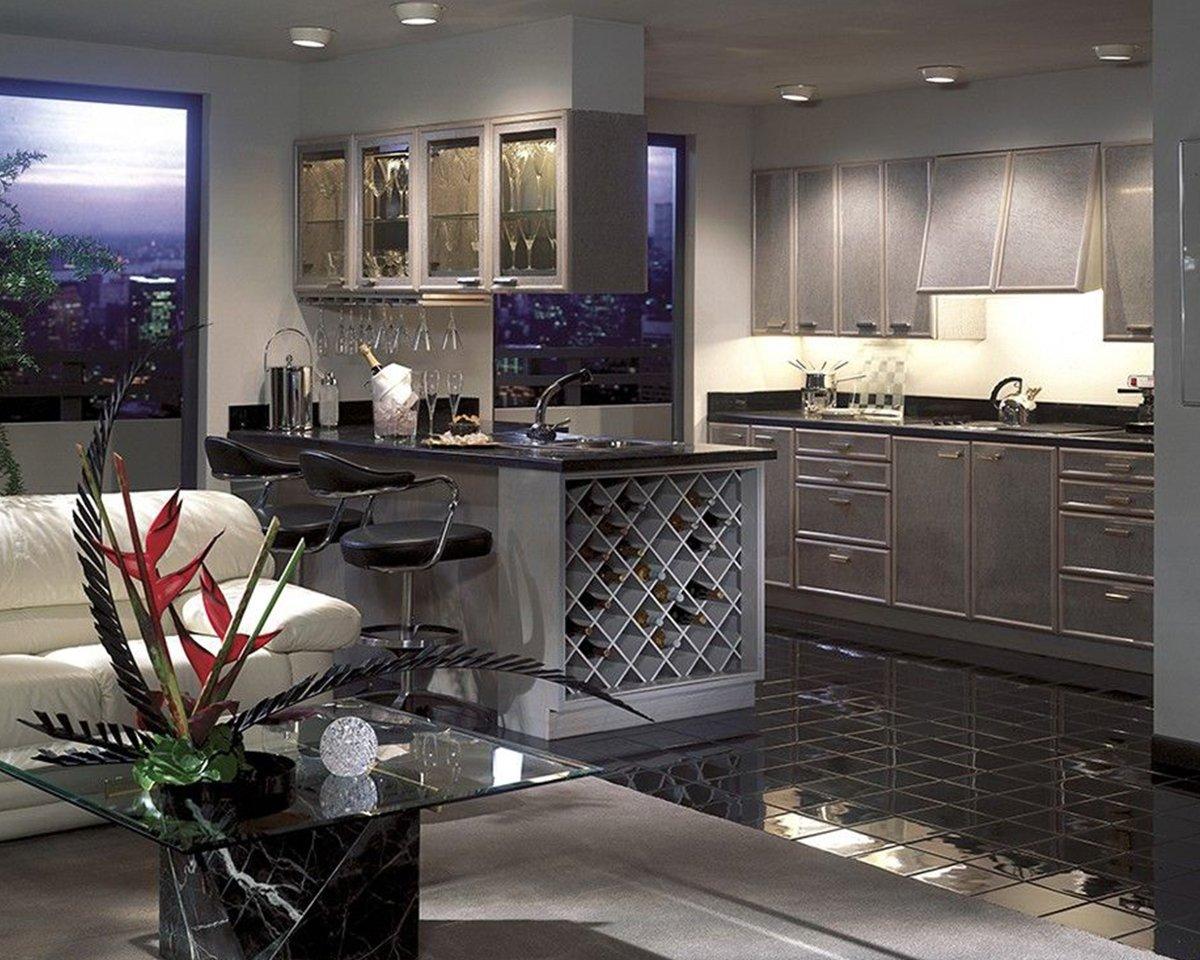 Romantische Küche mit LED Beleuchtung