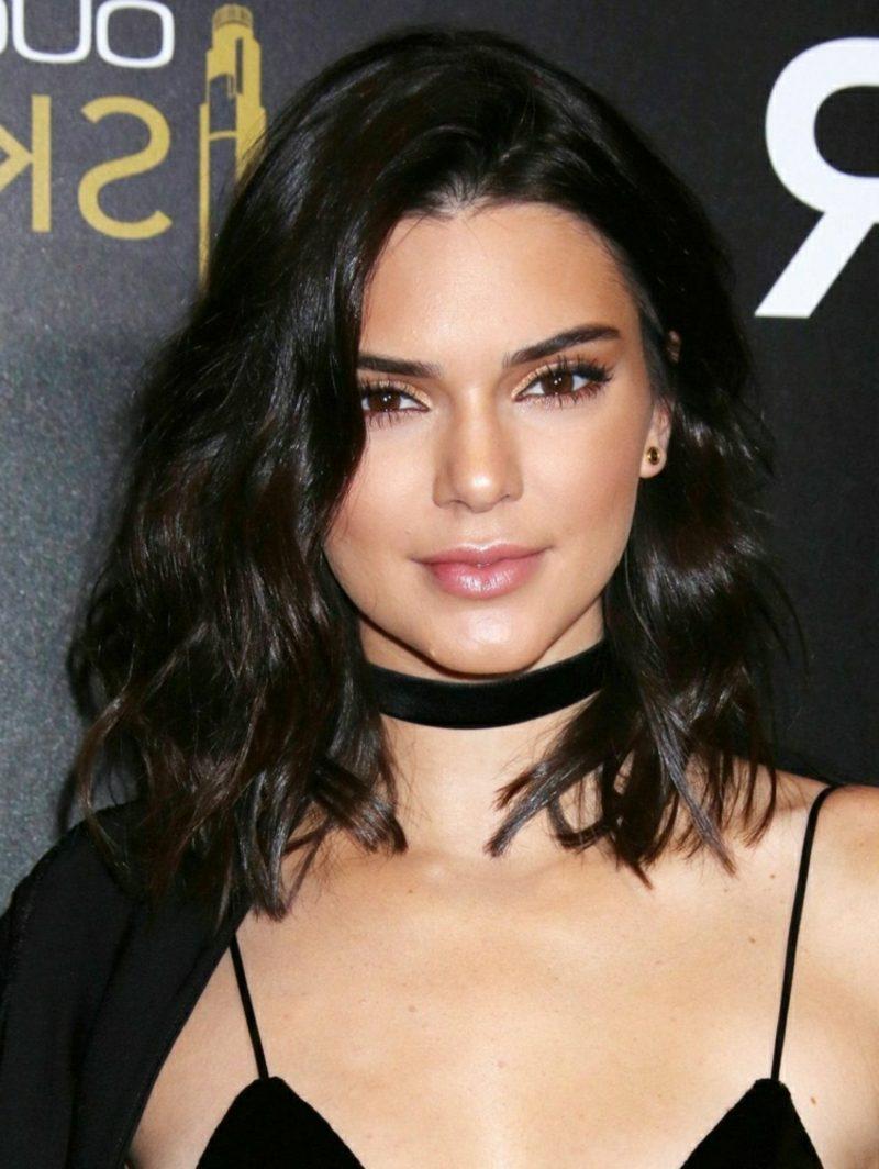 Bob Frisur long wellig Kendall Jenner