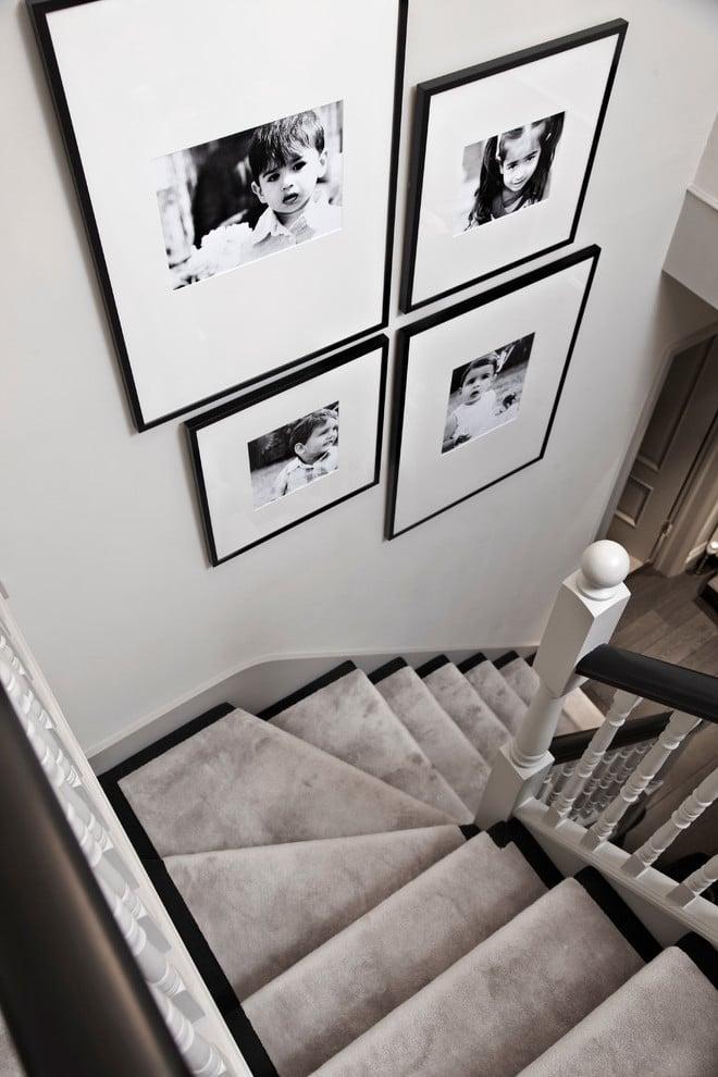 Treppenhaus Dekoration Fotowand gestalten