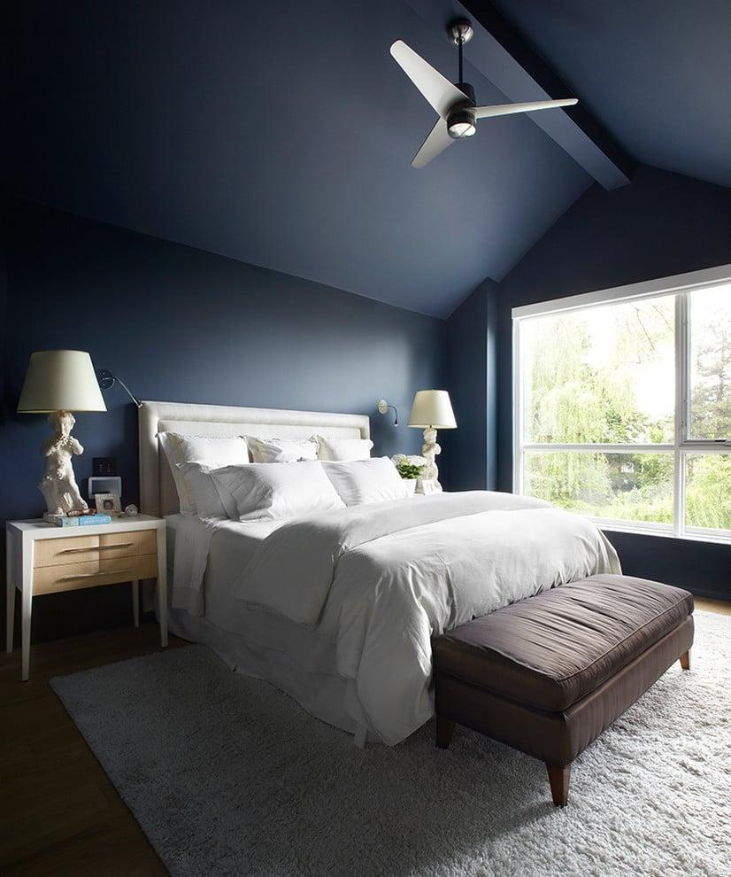 Petrolfarbe Wandfarbe blau