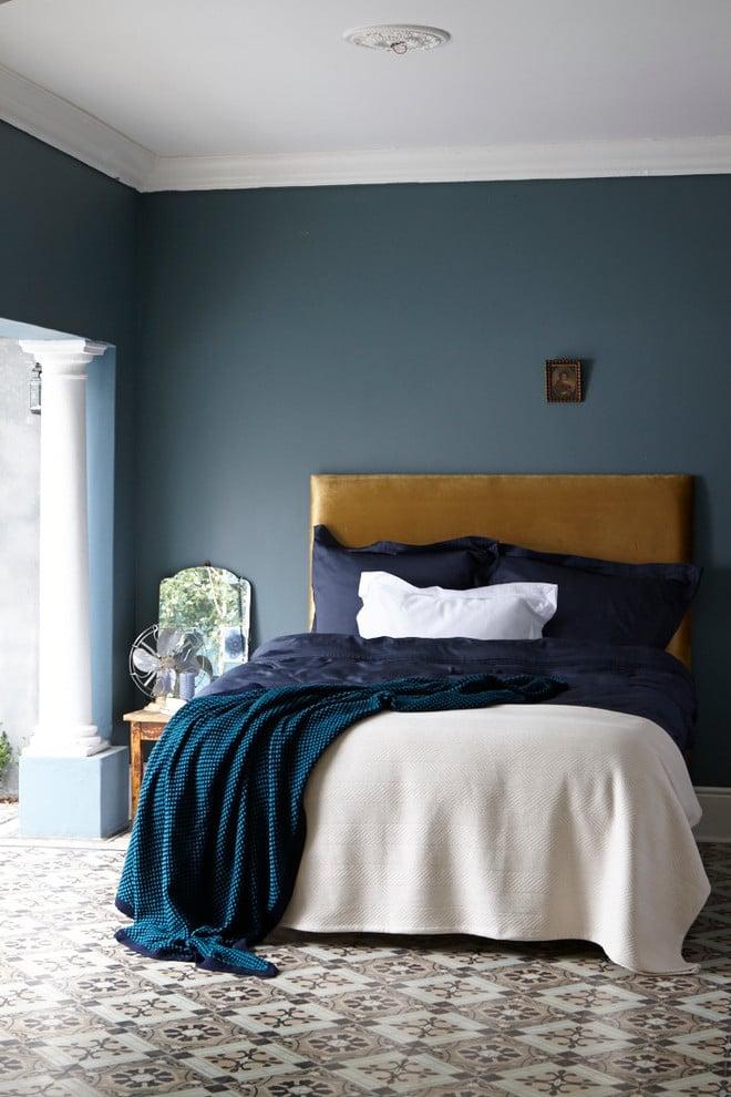 Petrol Farbe Schlafzimmer Wandfarbe