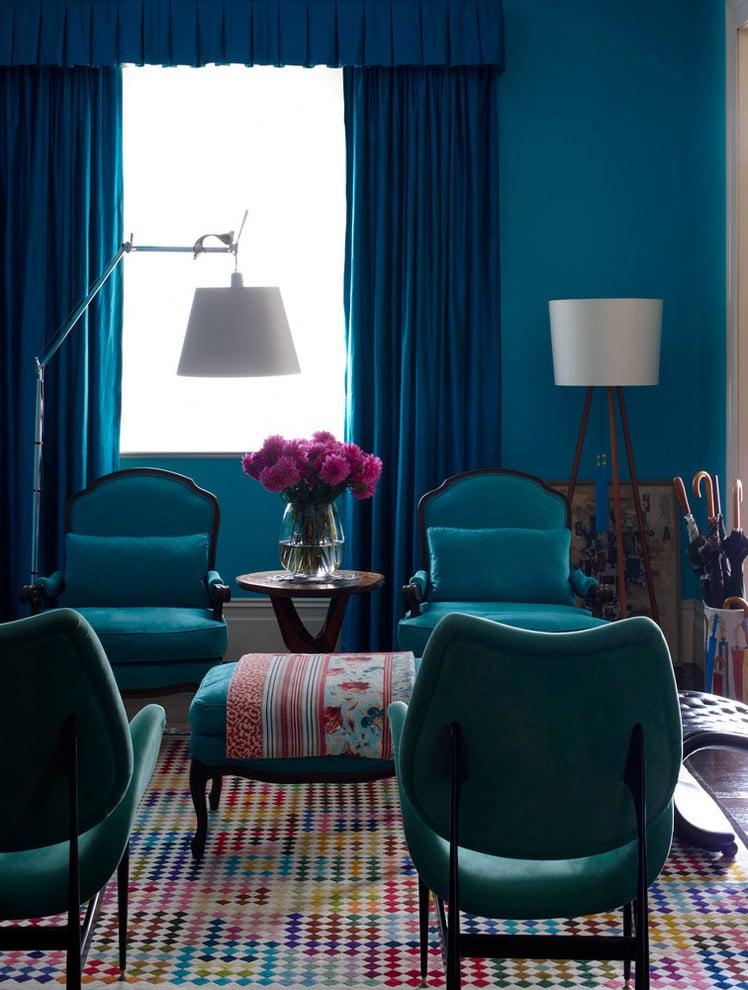 Farbpalette Wandfarben - Petrol Farbe ist Wandfarbe