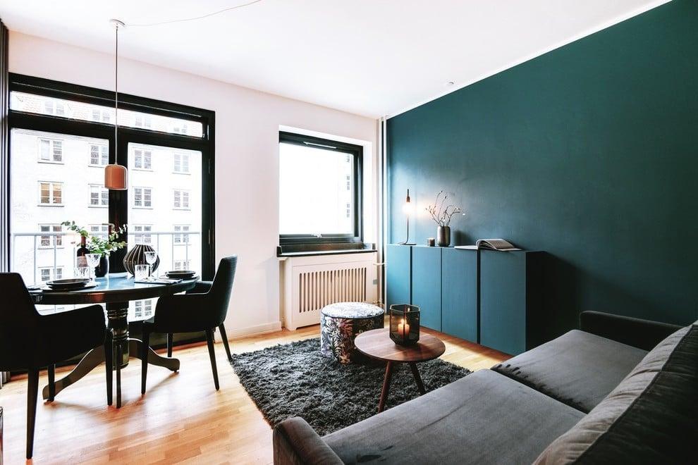 Trend 2018 für Wandfabe: Petrol Farbe ist angesagt! - Innendesign ...