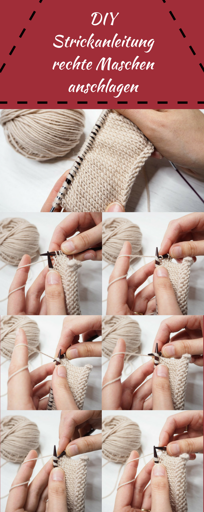 Eine ausführliche Anleitung für einen Oversized Schal
